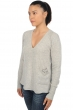 cachemire pull femme col v alwena flanelle chine s