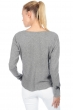 cachemire pull femme col v harmony gris chine t2