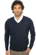 cachemire pull homme col v omarlo marine fonce m